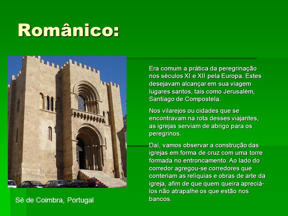 Românico: Sé de Coimbra, Portugal
