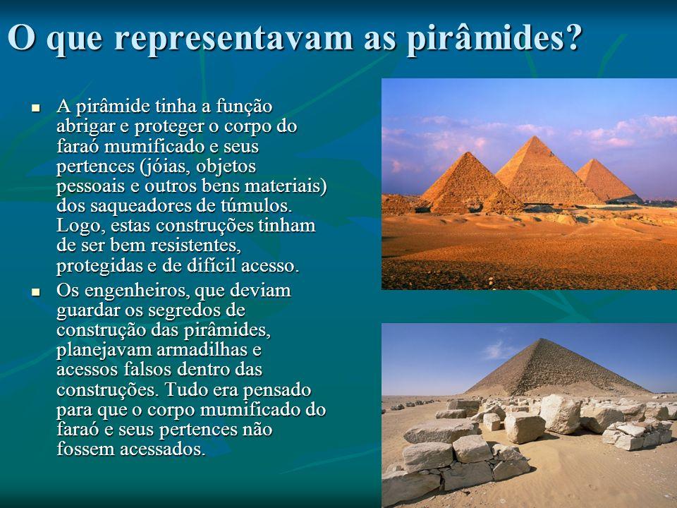 O que representavam as pirâmides