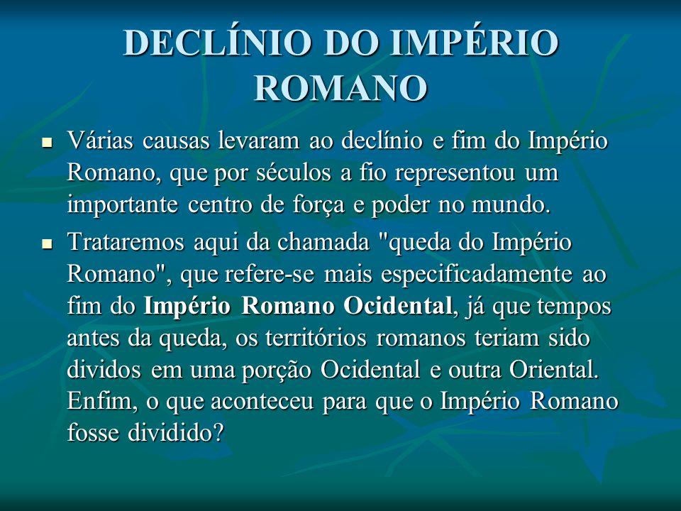 DECLÍNIO DO IMPÉRIO ROMANO