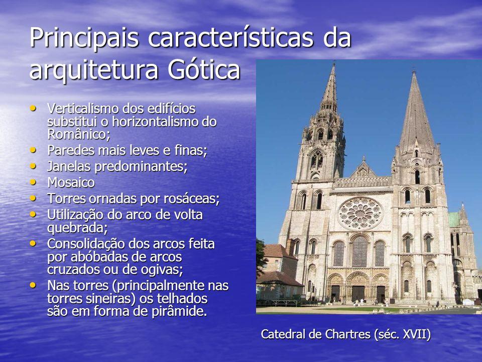 Principais características da arquitetura Gótica