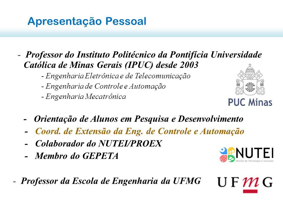 Apresentação Pessoal - Professor do Instituto Politécnico da Pontifícia Universidade Católica de Minas Gerais (IPUC) desde 2003.