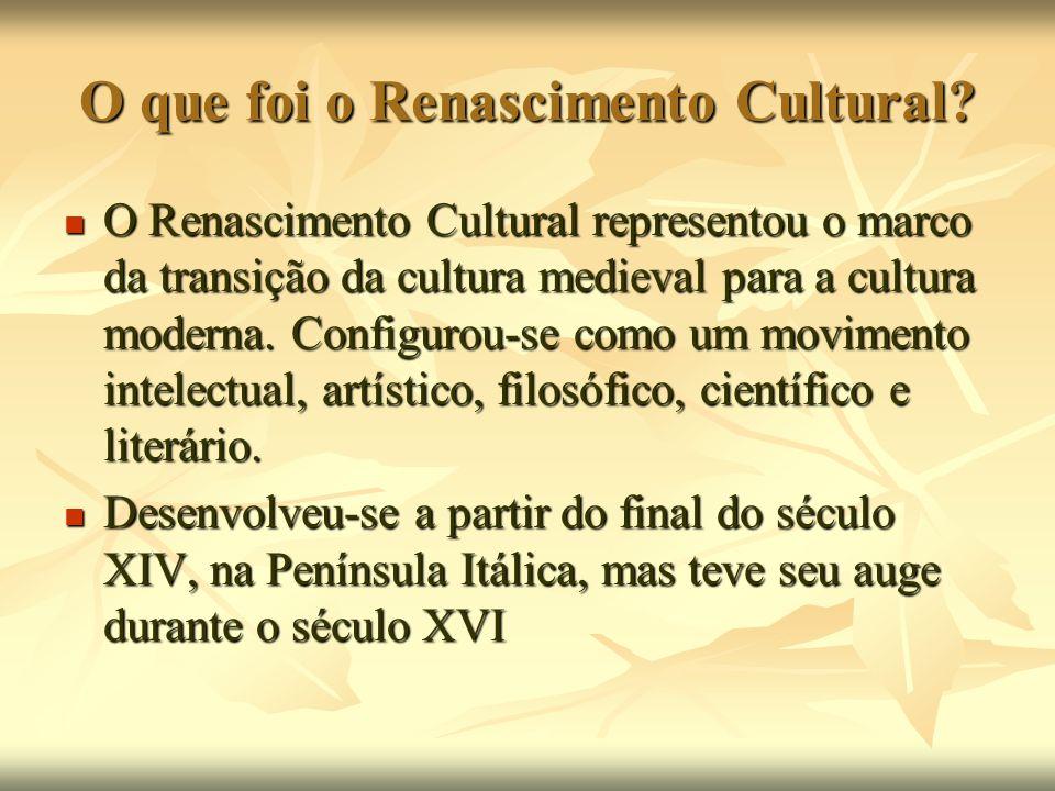 O que foi o Renascimento Cultural