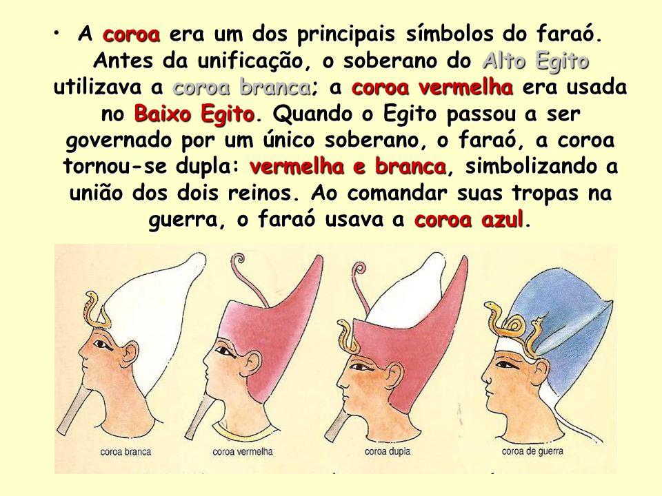 A coroa era um dos principais símbolos do faraó