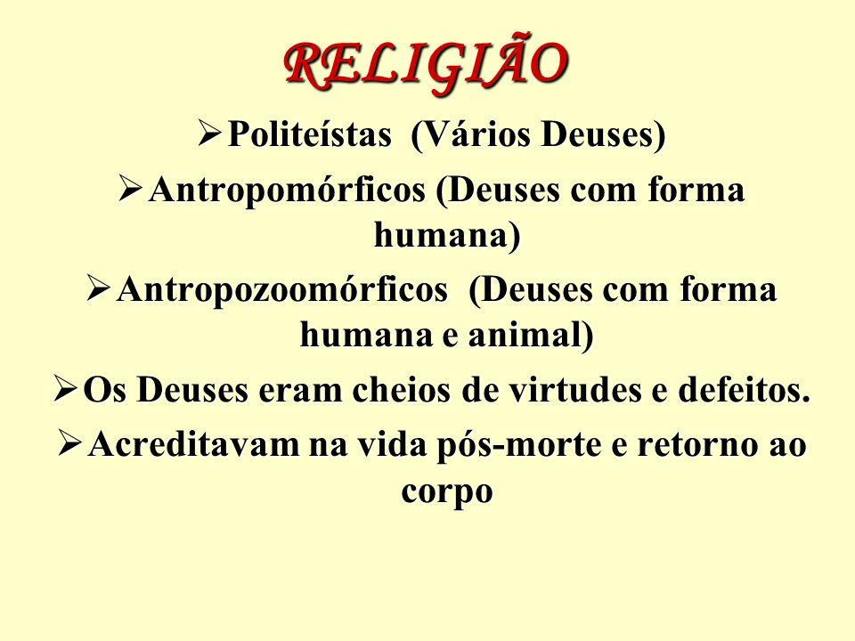 RELIGIÃO Politeístas (Vários Deuses)