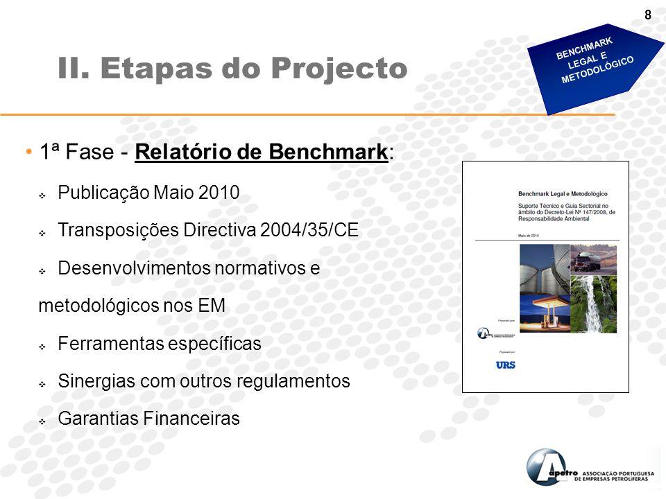 II. Etapas do Projecto 1ª Fase - Relatório de Benchmark: