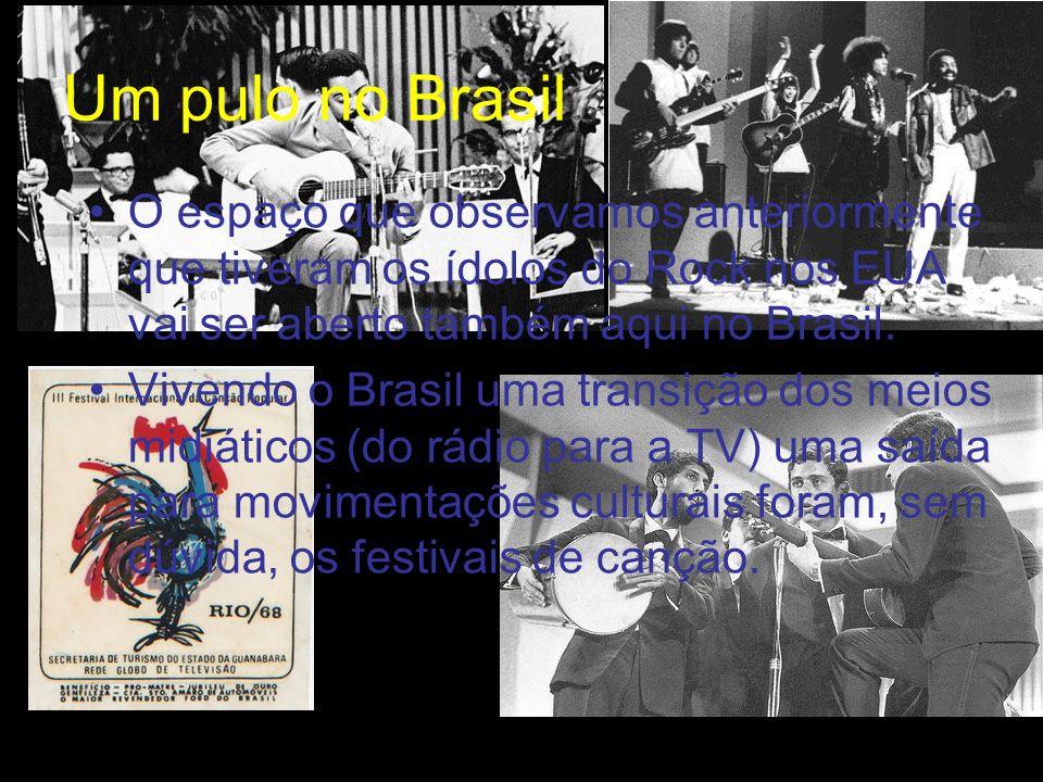 Um pulo no Brasil O espaço que observamos anteriormente que tiveram os ídolos do Rock nos EUA vai ser aberto também aqui no Brasil.