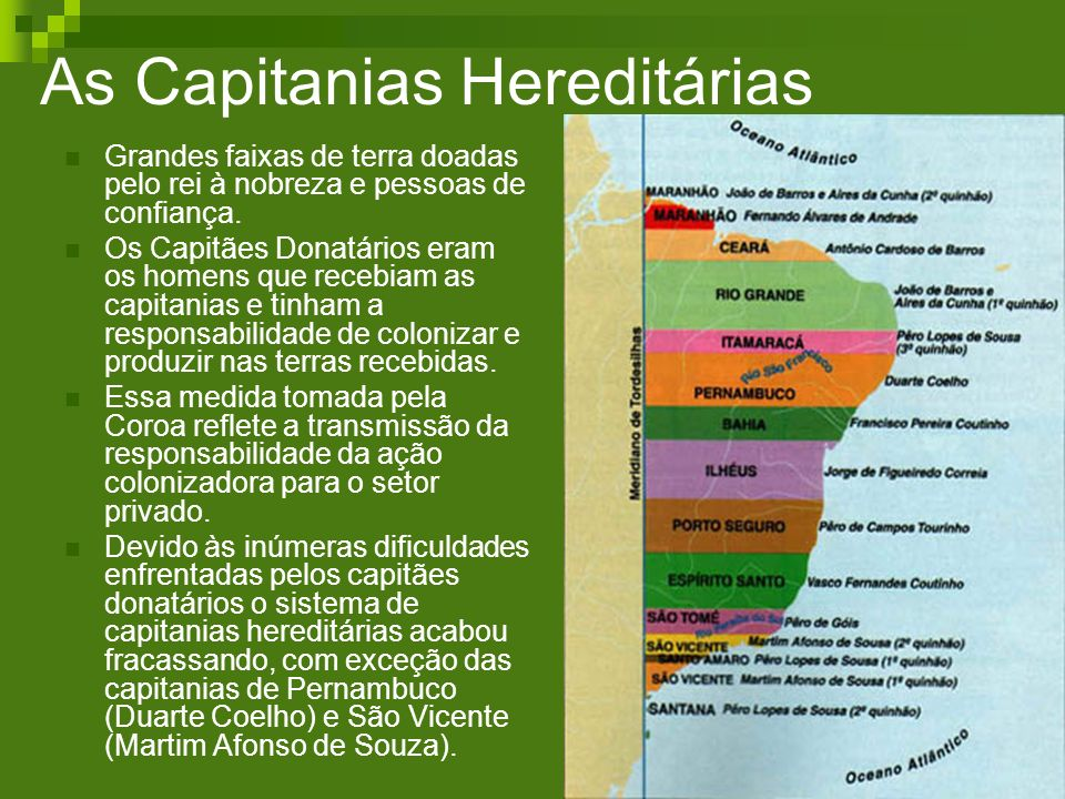 As Capitanias Hereditárias