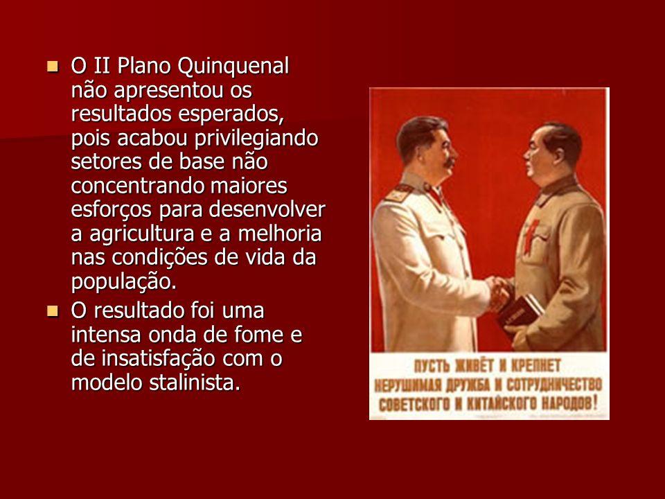O II Plano Quinquenal não apresentou os resultados esperados, pois acabou privilegiando setores de base não concentrando maiores esforços para desenvolver a agricultura e a melhoria nas condições de vida da população.