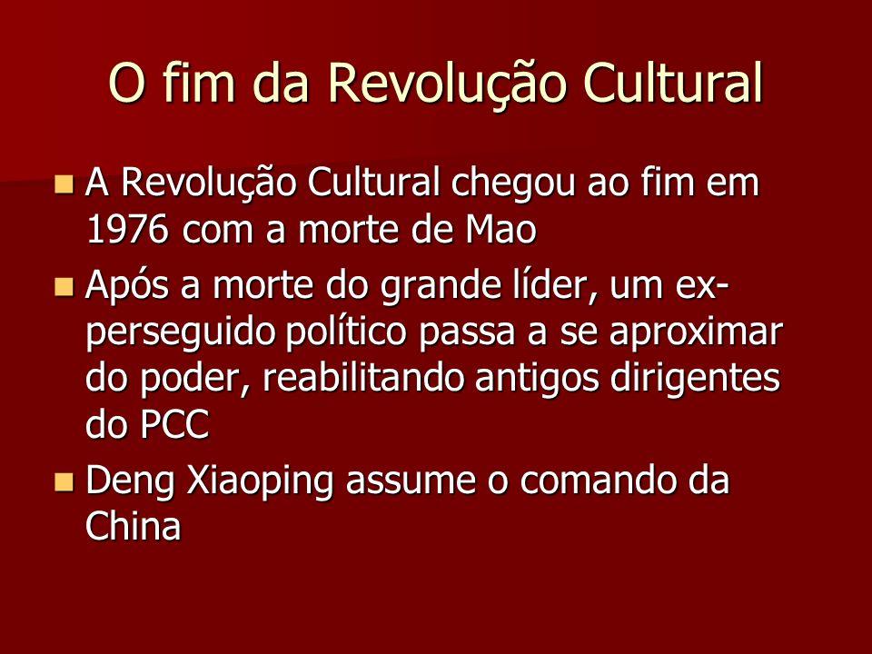 O fim da Revolução Cultural