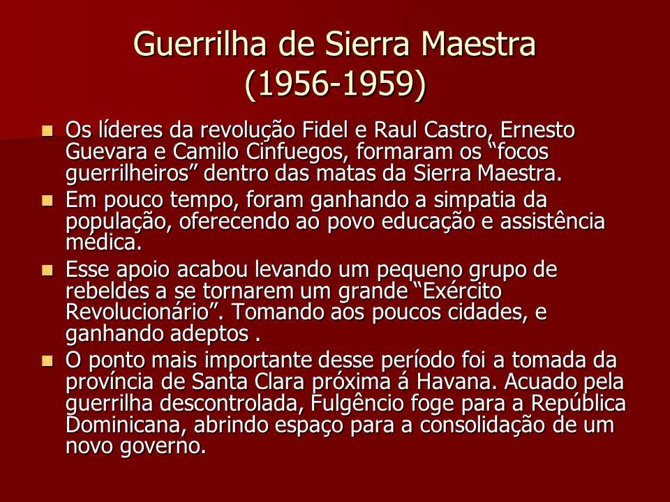 Guerrilha de Sierra Maestra (1956-1959)