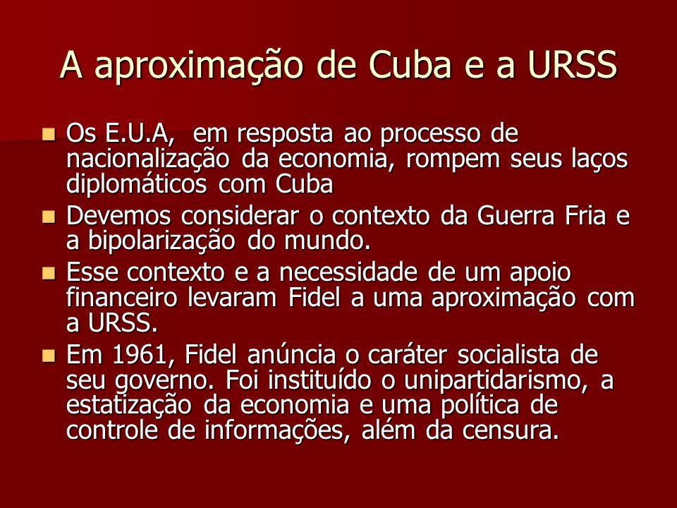 A aproximação de Cuba e a URSS