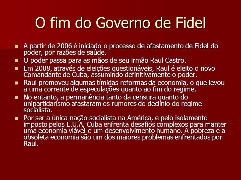 O fim do Governo de Fidel