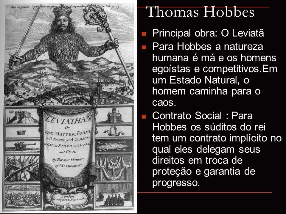 Thomas Hobbes Principal obra: O Leviatã