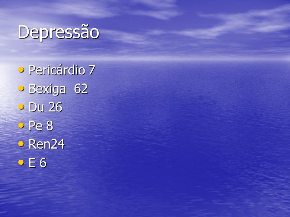 Depressão Pericárdio 7 Bexiga 62 Du 26 Pe 8 Ren24 E 6
