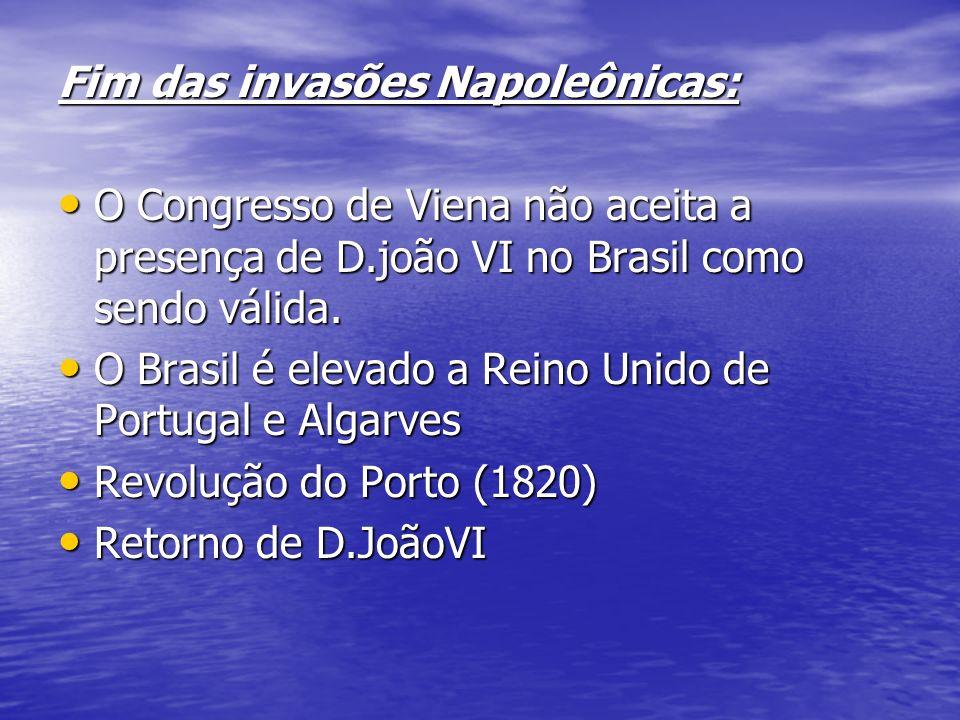 Fim das invasões Napoleônicas: