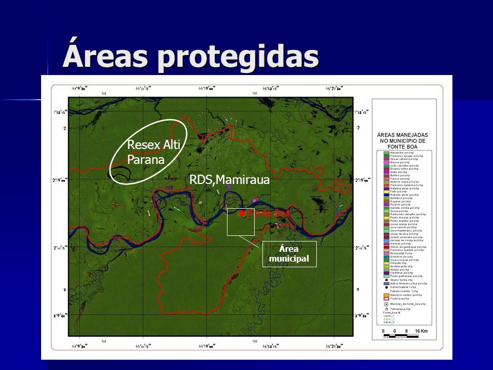 Áreas protegidas Resex Alti Parana RDS,Mamiraua Fonte Boa