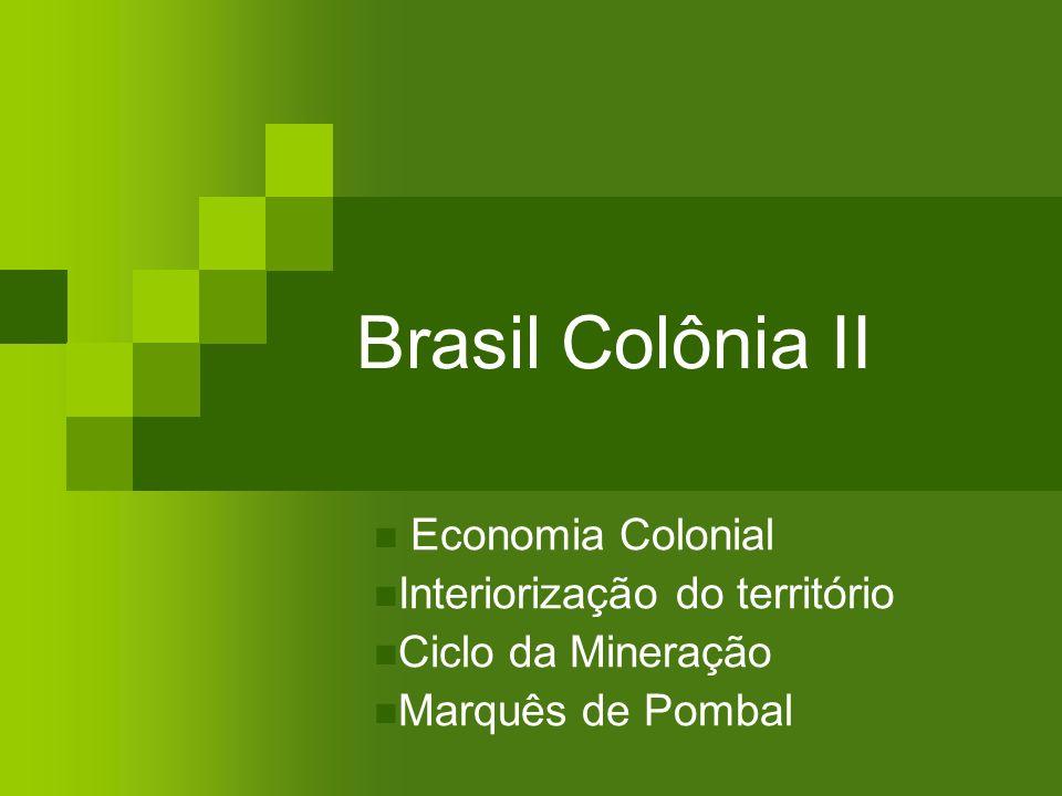 Brasil Colônia II Economia Colonial Interiorização do território