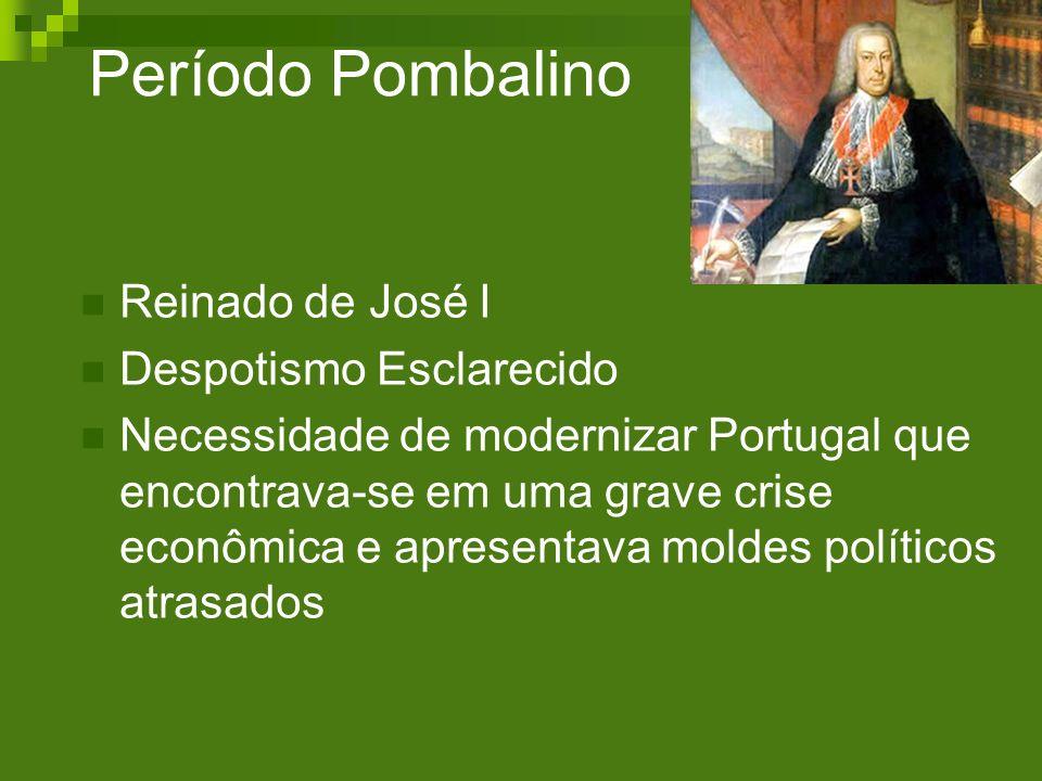 Período Pombalino Reinado de José I Despotismo Esclarecido