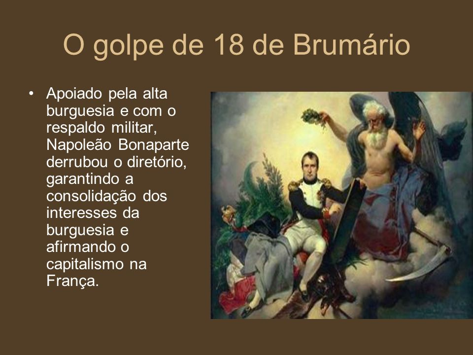 O golpe de 18 de Brumário