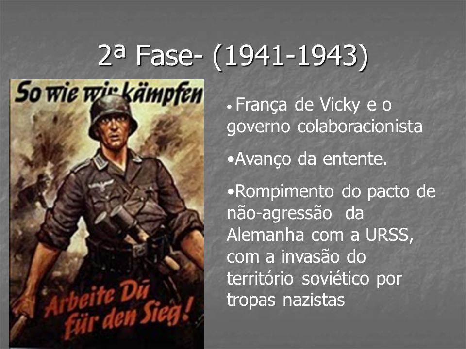 2ª Fase- (1941-1943) Avanço da entente.