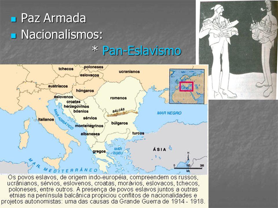 Paz Armada Nacionalismos: * Pan-Eslavismo