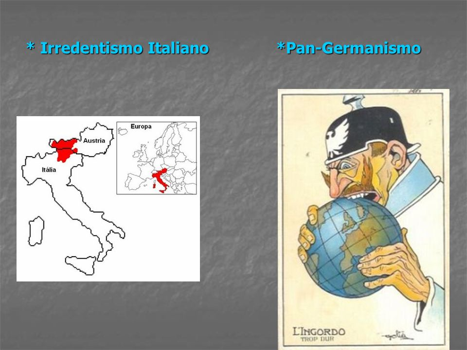 * Irredentismo Italiano *Pan-Germanismo
