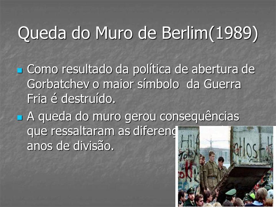 Queda do Muro de Berlim(1989)