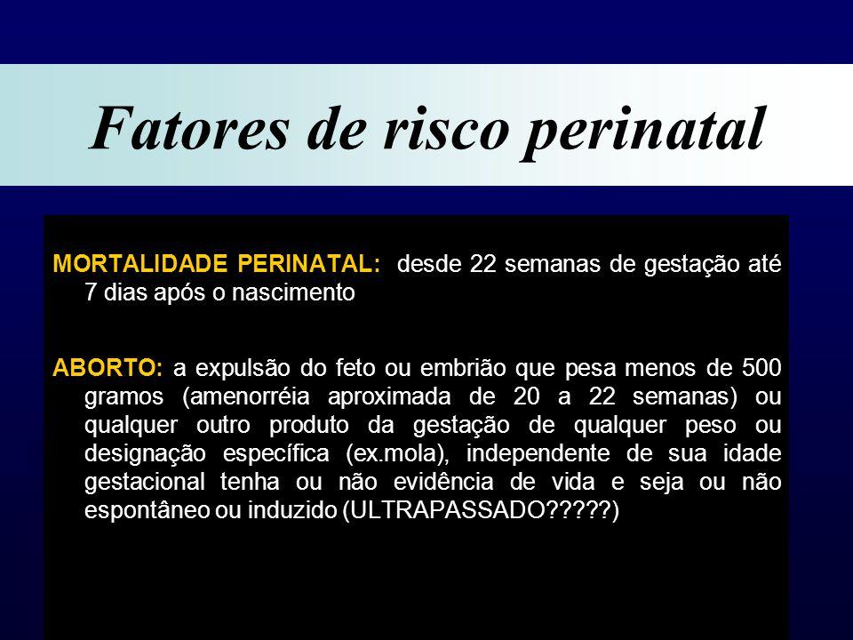 Fatores de risco perinatal