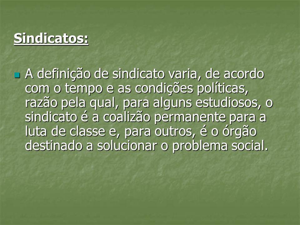 Sindicatos: