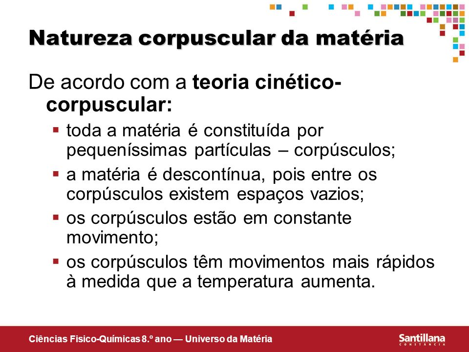 Natureza corpuscular da matéria
