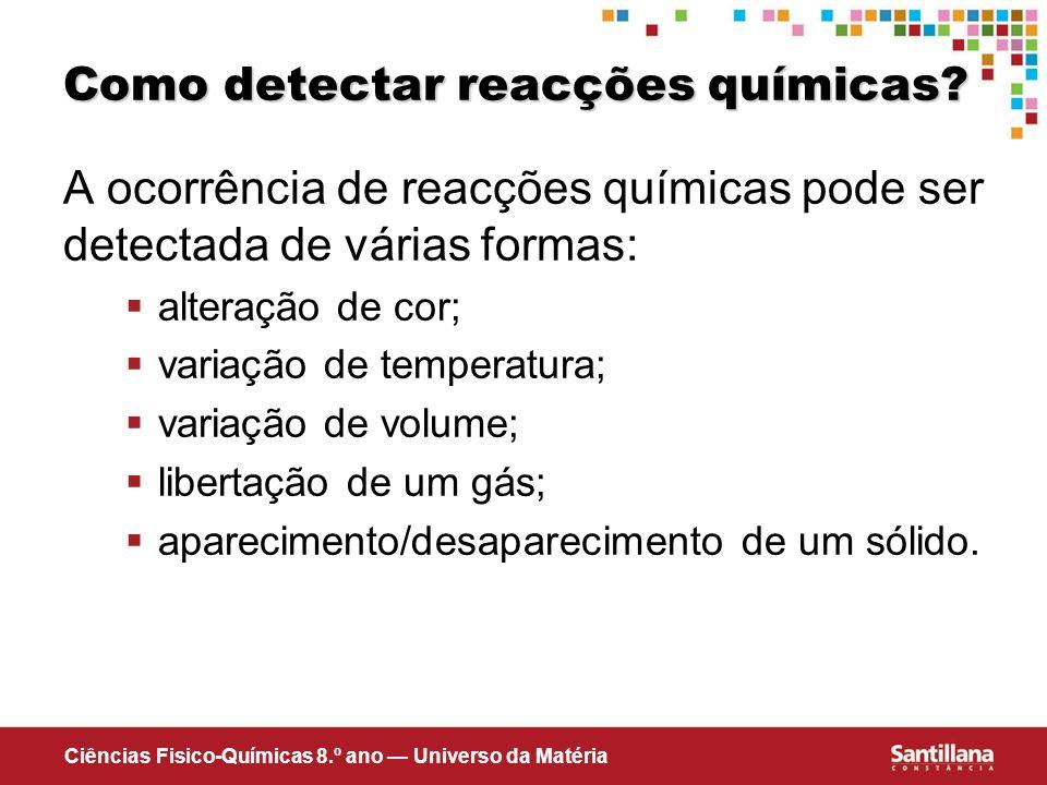 Como detectar reacções químicas