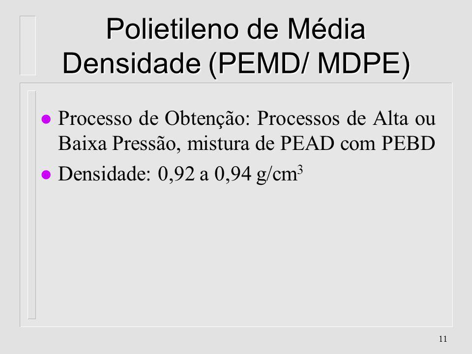 Polietileno de Média Densidade (PEMD/ MDPE)
