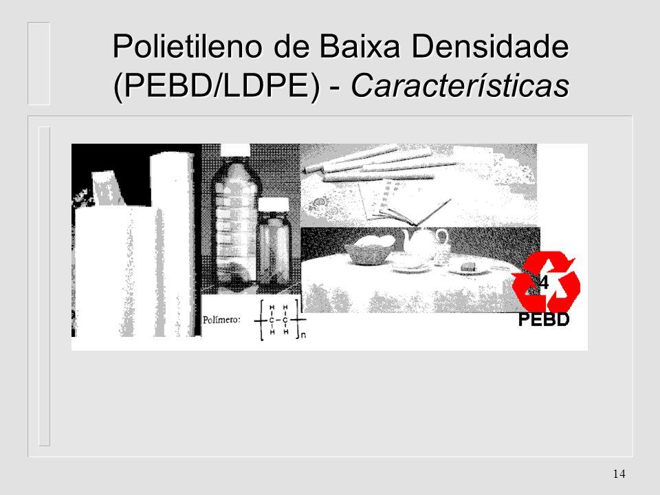Polietileno de Baixa Densidade (PEBD/LDPE) - Características