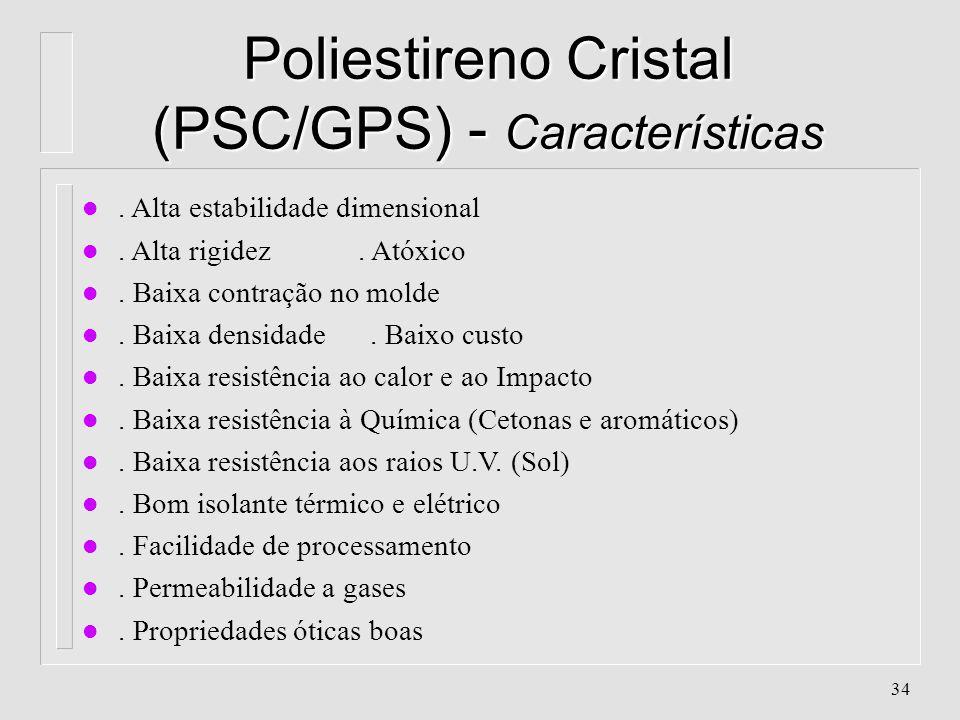 Poliestireno Cristal (PSC/GPS) - Características