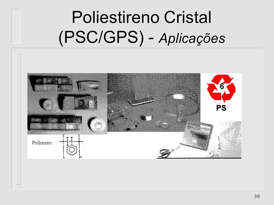 Poliestireno Cristal (PSC/GPS) - Aplicações