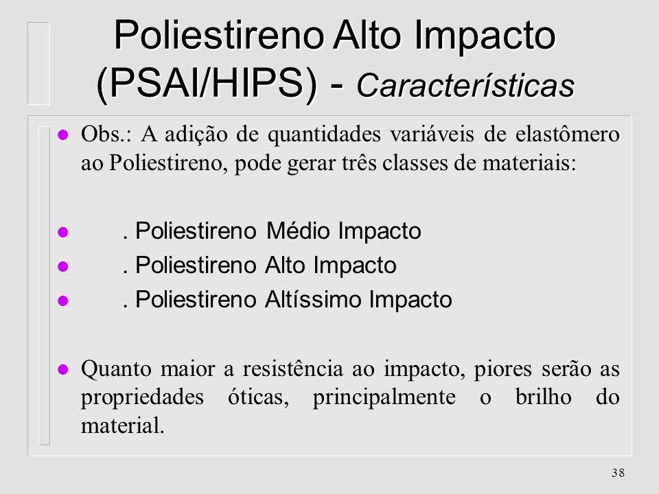 Poliestireno Alto Impacto (PSAI/HIPS) - Características