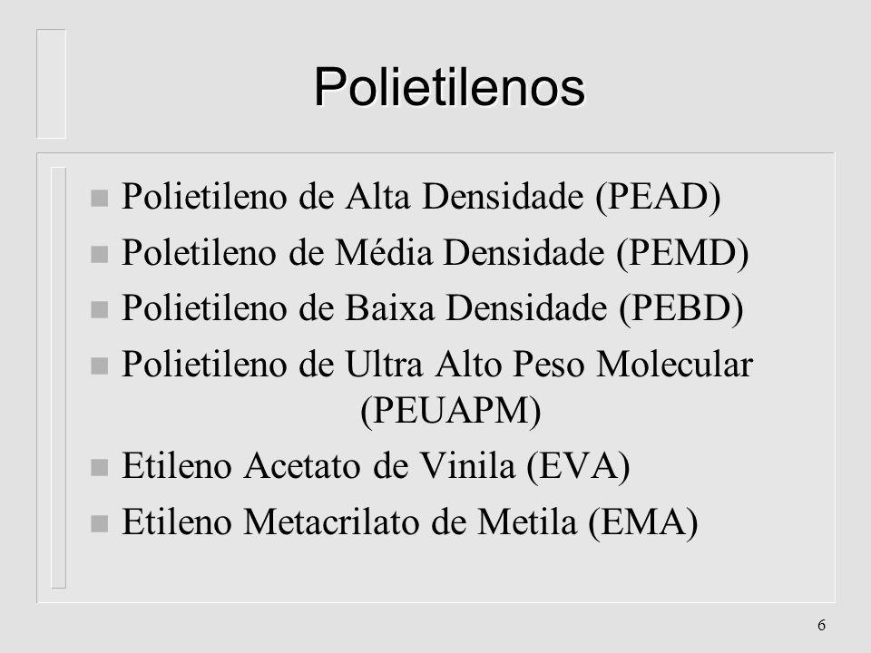 Polietilenos Polietileno de Alta Densidade (PEAD)