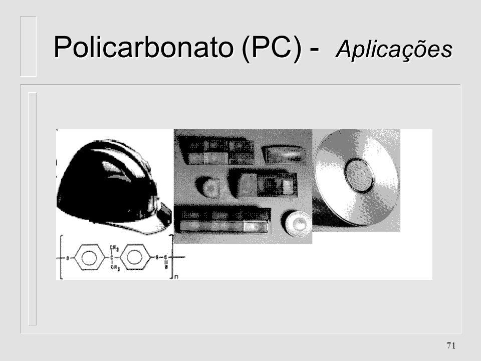 Policarbonato (PC) - Aplicações
