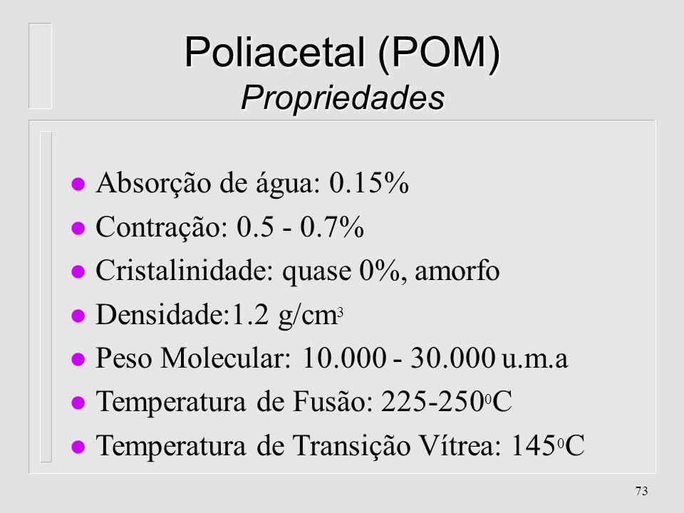 Poliacetal (POM) Propriedades