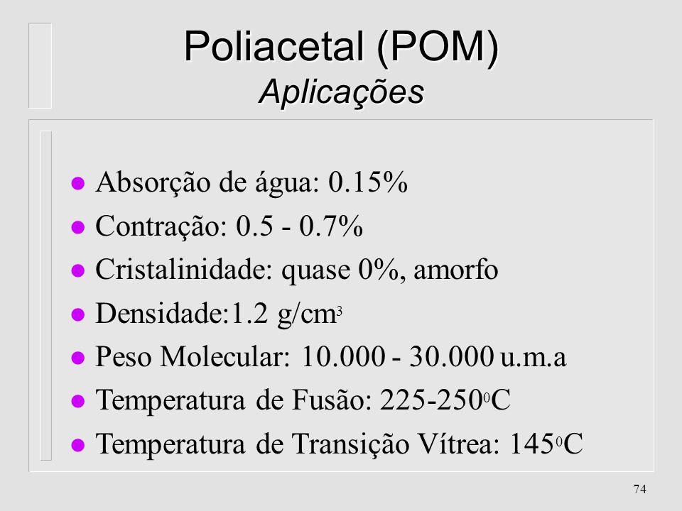Poliacetal (POM) Aplicações