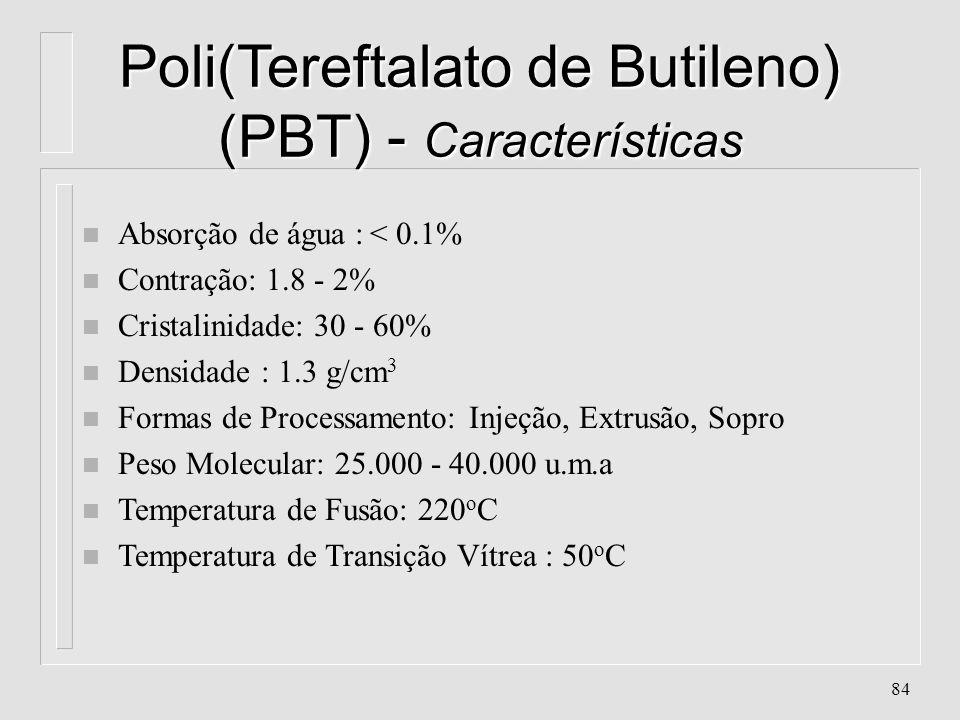 Poli(Tereftalato de Butileno) (PBT) - Características