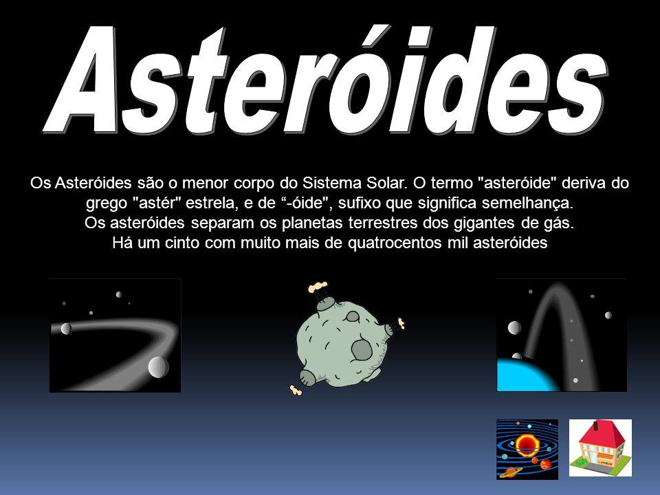 Asteróides Os Asteróides são o menor corpo do Sistema Solar. O termo asteróide deriva do.