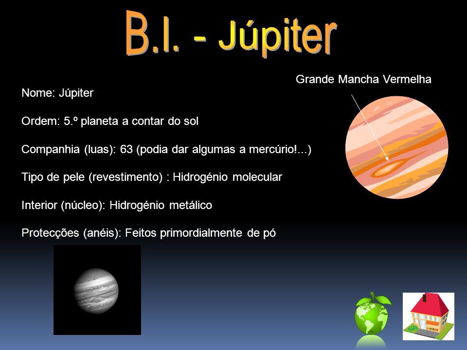 B.I. - Júpiter Grande Mancha Vermelha Nome: Júpiter
