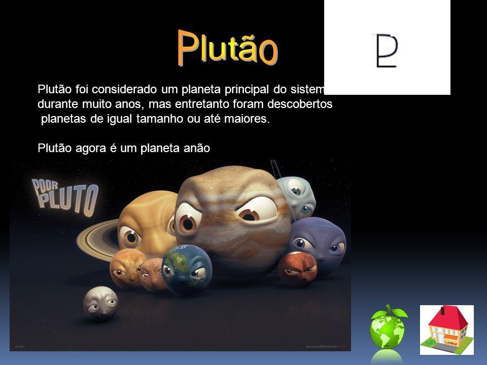 Plutão Plutão foi considerado um planeta principal do sistema solar