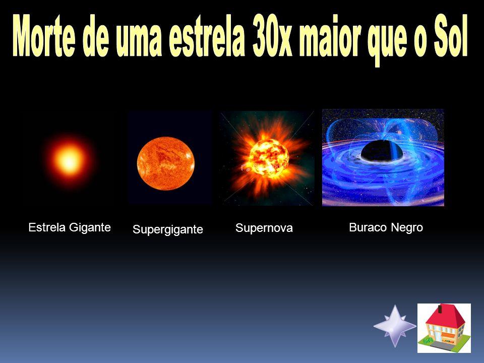 Morte de uma estrela 30x maior que o Sol