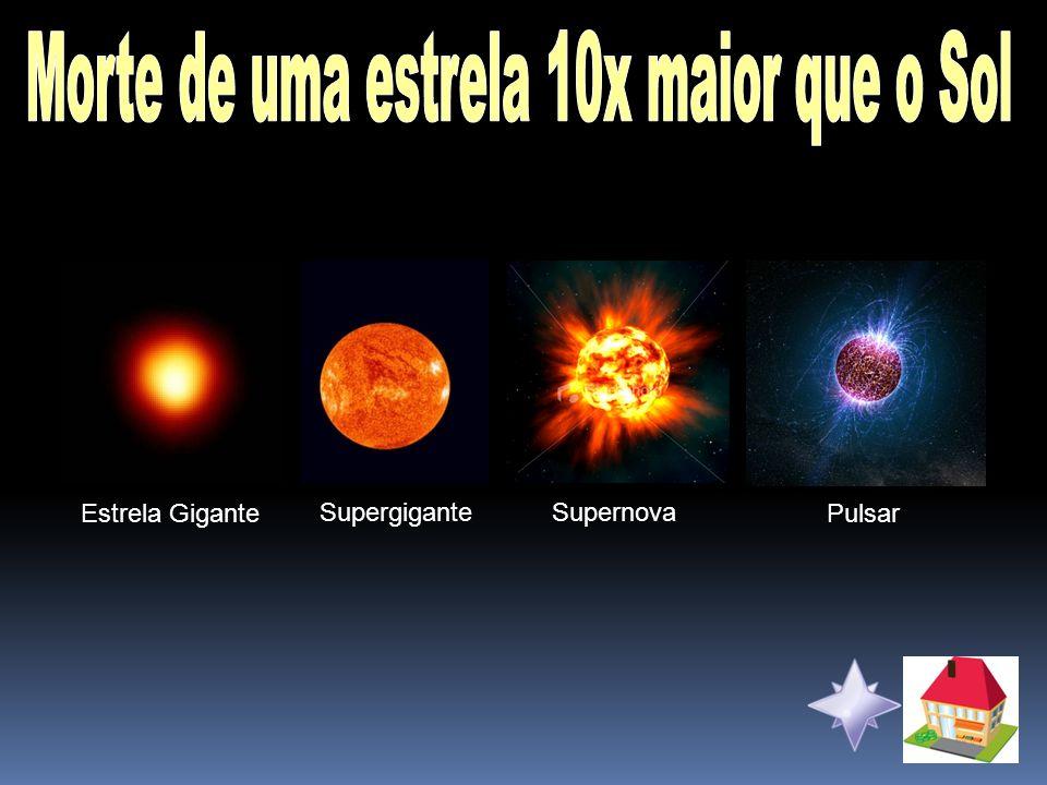 Morte de uma estrela 10x maior que o Sol