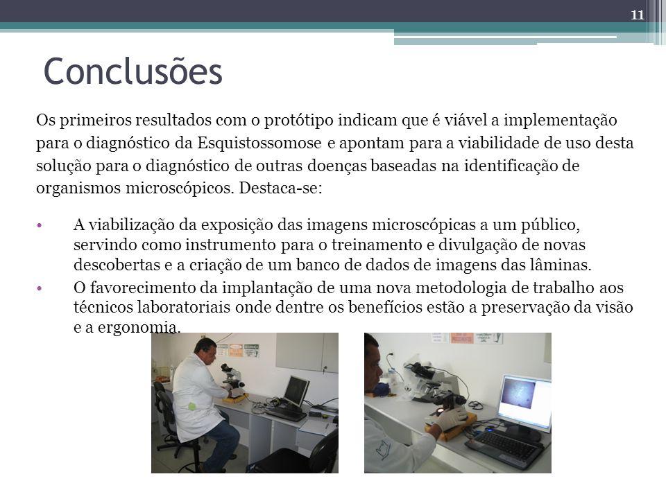 Conclusões Os primeiros resultados com o protótipo indicam que é viável a implementação.