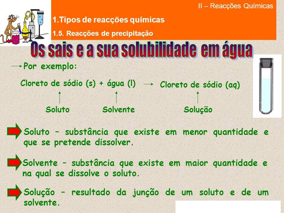 Cloreto de sódio (s) + água (l)