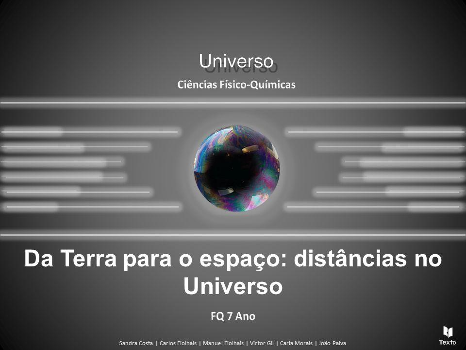 Da Terra para o espaço: distâncias no Universo