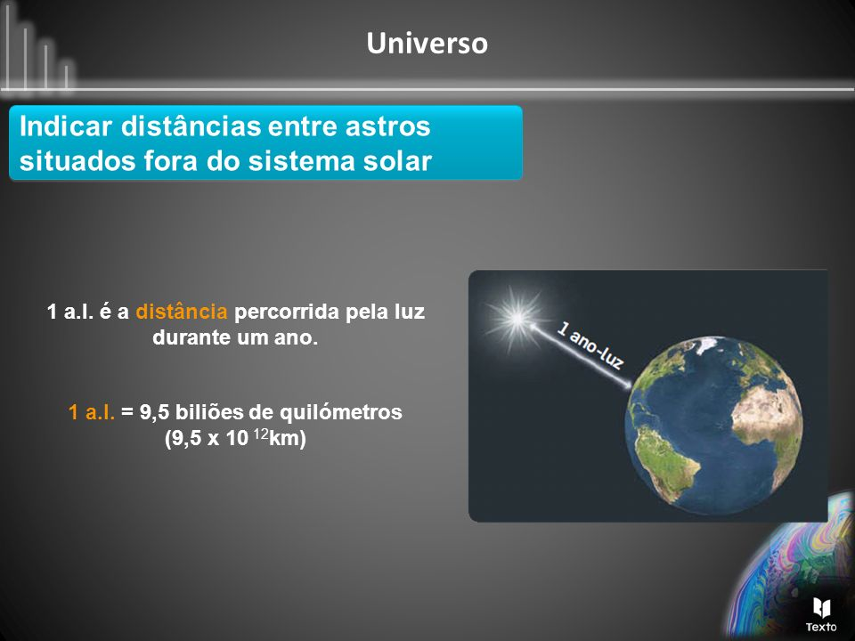 Indicar distâncias entre astros situados fora do sistema solar